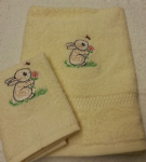 RABBIT PERSONALISED TOWEL SET